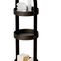 This solid dark oak contemporary 4 tray caddy provides a storage solution for keeping bathroom essentials in one place and looking tidy. With its slim profile and refined form, the 4 tray round caddy has a modern appeal. Portable, well proportioned, and with staggered, shallow lipped trays, it provides accessible storage for any environment. This Dark Oak 4 tray storage caddy is available in a choice of Natural Oak and White Gloss, please see seperate listings. The bathroom caddy is part of a wi Bath Organizer, Bathroom Caddy, Storage Caddy, Dark Stains, Bathroom Essentials, White Oak, Shallow, Storage Solutions, Contemporary