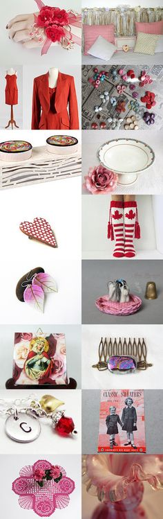 Red and Pink by Laura P. on Etsy--Pinned+with+TreasuryPin.com