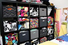 Ikea Expedit Fabric Covered Boxes Tutorial - Rae Gun Ramblings (great idea to beautiful boxes on a budget to go in ikea shelves)Rae Gun Ramblings: Ikea Expedit Fabric Covered Boxes, make your own fabric boxes this is genius - you can get cheap fabric Ikea Storage Boxes, Ikea Boxes, Craft Storage, Storage Ideas, Ikea Shelves, Ikea Cubbies, Cube Shelves, Storage Design, Fabric Covered Boxes