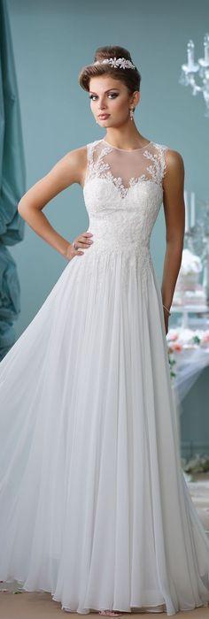 Enchanting by Mon Cheri Spring 2016 ~Style No. 116127 #chiffonweddingdress