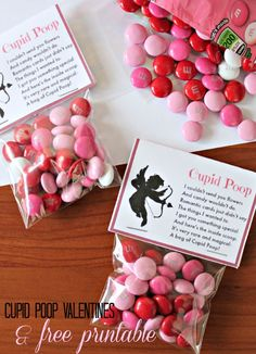 Printable Valentine's Day Card for Kids - Cupid Poop