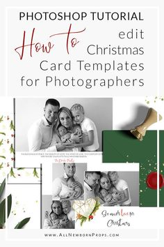 Christmas Card Templates for Photographers Newborn Posing Guide, Newborn Photo Props, Christmas Photo Card Template, Christmas Cards, Merry Christmas, Newborn Christmas Photos, Newborn Photography Tips, Digital Backgrounds, How To Pose