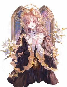 Girls Characters, Anime Characters, Fantasy Characters, Character Costumes, Character Art, Character Design, Anime Angel, Anime Fairy, Manhwa