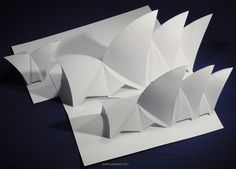 The Sydney Opera House Origamic Architecture   This is a spectacular magical art for you to put together and is made with paper entirely. The building design is base on the Sydney Opera House. It is foldable.