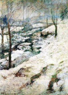 Frozen Brook - John Henry Twachtman