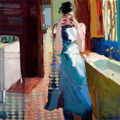 "Tea by Linda Christensen 35x35"""