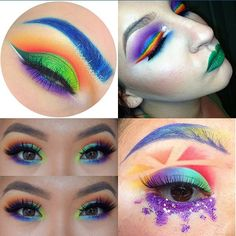 """Rainbow collab with these lovelies They are all soooo inspirational and just hands down the best at using awesome colors Give them a follow if you love color and want to be floored each and everytime they post!! @colorpunch @beccaboo318 @misss_ali !!"" Photo taken by @melsmakeupdiary on Instagram, pinned via the InstaPin iOS App! http://www.instapinapp.com (05/13/2015)"
