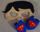 Superman felt mask and cuffs - $15.00
