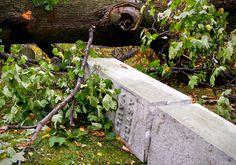 Hurricane Sandy aftermath: Astor Vault, Trinity Church Cemetery & Mausoleum, NYC - ©2012 Eric K. Washington