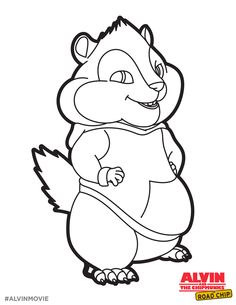 free theodore coloring printable perfect for a road trip alvin and the chipmunks the