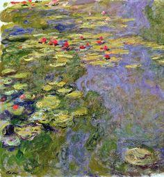 Le Bassin aux nymphéas, Monet, huile sur toile, partie gauche : 130 x 120 cm (original : 130 x 200 cm), 1917-1919 (W 1888/1), musée Marmottan, Paris.