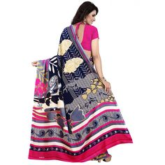 Nice-looking Blue Color Premium Georgette Printed Saree at just Rs.499/- on www.vendorvilla.com. Cash on Delivery, Easy Returns, Lowest Price.