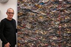 "Simon Raab with Parleau ""We Wove"" 2013 www.parleau.com #simonraab #parleau #art #artwork #artist Paper Art, Weaving, Abs, Sculpture, Artwork, Artist, Painting, Work Of Art, Abdominal Muscles"