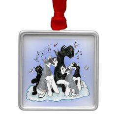 Singing Christmas Schnauzer Ornament  #schnauzer #giantschnauzer #schnauzerchristmas #loribushart