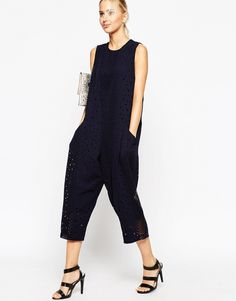 Jumpsuit with Laser Cut Detail