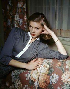 40's screen siren Betty Bacall.