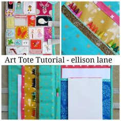 art tote tutorial - free pdf download - from jennifer mathis at ellisonlane.com - I might know some kids who need this!