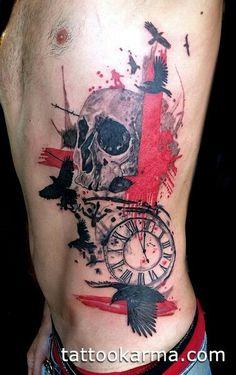 trash polka tattoo skull tattooz pinterest tattoo studio ateliers und totenk pfe. Black Bedroom Furniture Sets. Home Design Ideas