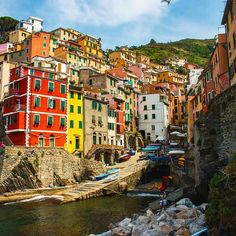"""Do you love colorful buildings? @foreign_tides shot this in """"Riomaggiore"""" one of the 5 villages in Cinque Terre along the western coast of Italy.  Tag your photos  #inspravel  for a feature. http://ift.tt/1T79cuQ Follow @inspravel on Instagram."""
