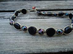 Items similar to Hemp Necklace - Elizabeth on Etsy Hemp Necklace, Hemp Jewelry, Hemp Bracelets, Macrame Jewelry, Fabric Jewelry, Stone Jewelry, Friendship Bracelets, Jewelry Bracelets, Necklaces
