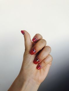 Aesthetic Red Nails