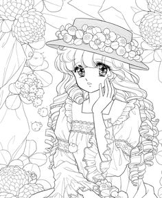 ぬりえ工房 ユメイロ-2の画像 | ☆ドリーミィー・フェザー☆ Princess Coloring Pages, Free Adult Coloring Pages, Cute Coloring Pages, Coloring Pages For Girls, Disney Coloring Pages, Vintage Coloring Books, Coloring Book Art, Old Anime, Colorful Drawings