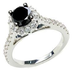 Stunning black diamond ring