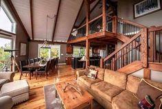 Moose Ridge Lodge Great Room Yankee Barn Northpeak Photography