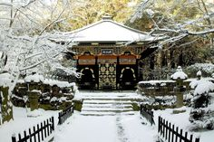 Strolling by snow cover temples in Japan is the perfect winter holiday.