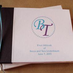 Custom Bar / Bat Mitzvah Guest Book - Personalized Bar / Bat Mitzvah Keepsake Album