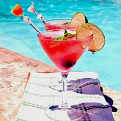 Cherry Lime Fizz. Enjoy this sugar free summer spritzer next to the pool.