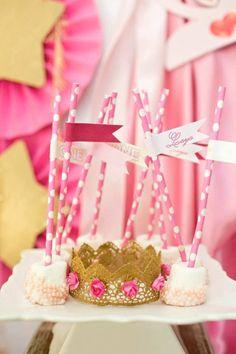 Royal PRINCESS 1st Birthday Party via Kara's Party Ideas KarasPartyIdeas.com Cake, banners, recipes, favors, and more! #princessparty #princessbirthdayparty #princesspartyideas (22)