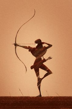 Archer by Wildweasel339 female ranger bow arrow pose illustration silhouette armor clothes clothing fashion player character npc | Create your own roleplaying game material w/ RPG Bard: www.rpgbard.com | Writing inspiration for Dungeons and Dragons DND D&D Pathfinder PFRPG Warhammer 40k Star Wars Shadowrun Call of Cthulhu Lord of the Rings LoTR + d20 fantasy science fiction scifi horror design | Not Trusty Sword art: click artwork for source
