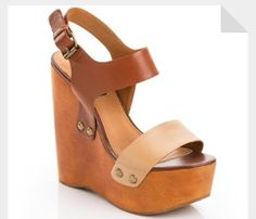 brown Wedges by Steve Madden