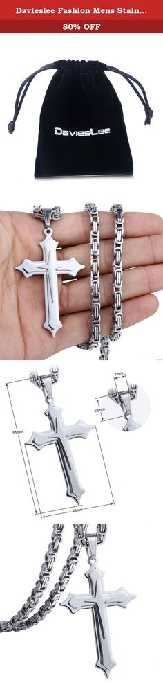 Davieslee Fashion Mens Stainless Steel Cross Pendant Byzantine Chain Necklace 28inch. Welcome to our store:) 1. Product size is manual measurement, it is normal there may be 1mm(width) or 1cm(length) measure error. 2. Photos are ONLY for reference; actual size is as description stated. 3. Any problems for the order,please contact us first,we will solve your problem in time.