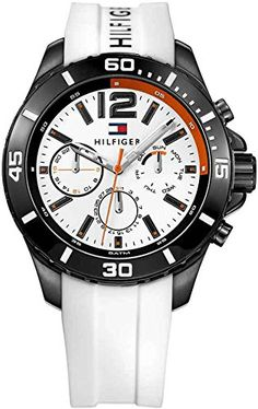 Tommy Hilfiger Mens 1791146 Cool Sport Analog Display Quartz White Watch >>> Be sure to check out this awesome product. (Note:Amazon affiliate link)
