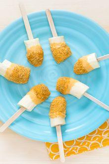 Chiquita® Banana Pumpkin Pie Pops via #CookingLab winner, Wendy! #bananas #easy #pumpkin