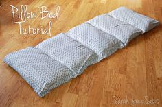 Sarah Jane Sews: Tutorial: Pillow Bed from XL Twin Sheet. First, move your cat out of the way...lol