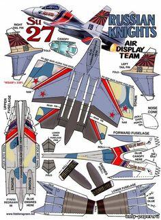Су-27 / Su-27 Flanker (Fiddlers Green) из бумаги, модели бумажные скачать бесплатно. Papercraft, paper model free download template.