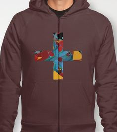 Floral Madness Cross Hoodie By Pencil Me by PencilMeInStationery, $45.00