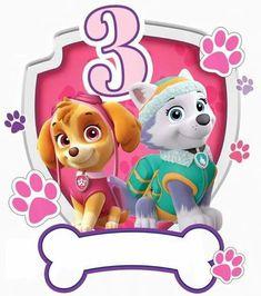 Bolo Do Paw Patrol, Sky Paw Patrol, Paw Patrol Shirt, Paw Patrol Cake, Paw Patrol Cupcake Toppers, Paw Patrol Cupcakes, Kids Birthday Party Invitations, 3rd Birthday Parties, Everest Paw Patrol