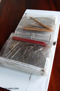 31 Days to Get Organized: How to Store your Needles and Hooks - Circulars and Double Points in a binder