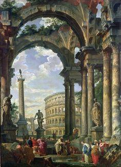 Roman Capriccio, by Giovanni Paolo Panini