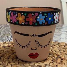 Decorated Flower Pots, Painted Flower Pots, Painted Pots, Hand Painted, Garden Projects, Projects To Try, Fresh Meadows, Paint Pens, Clay Pots