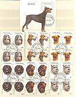 Dogs - sheet and set with blocs of four Dar es Salaam-Tansania 30,US$ - quotDar, 30US$, blocs, Dogs, FOUR, SalaamquotTansania, Sheet