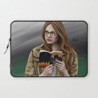 Laptop Sleeve featuring Amelia by Mascmallow