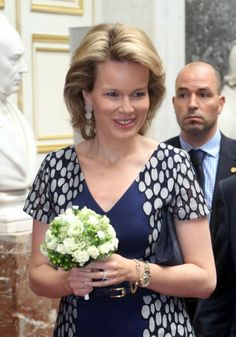 Crown Princess Mathilde  attended the 'Inbev-Latour Awards de la Sante 2013' at the Palais des Academies in Brussel