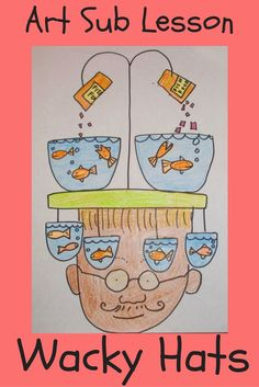 Here is a fun, elementary art lesson plan that kids will have fun doing. 23 PowerPoint pages long with visuals and script. It can be taught by subs, classroom teachers and art teachers. It is a no prep drawing lesson. Great for sub tubs.