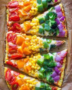 Colorida pizza vegetal