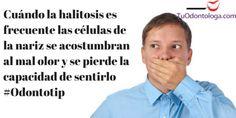 Cuando la halitosis se presenta de manera frecuente el olfato deja de percibirlo #Odontotip